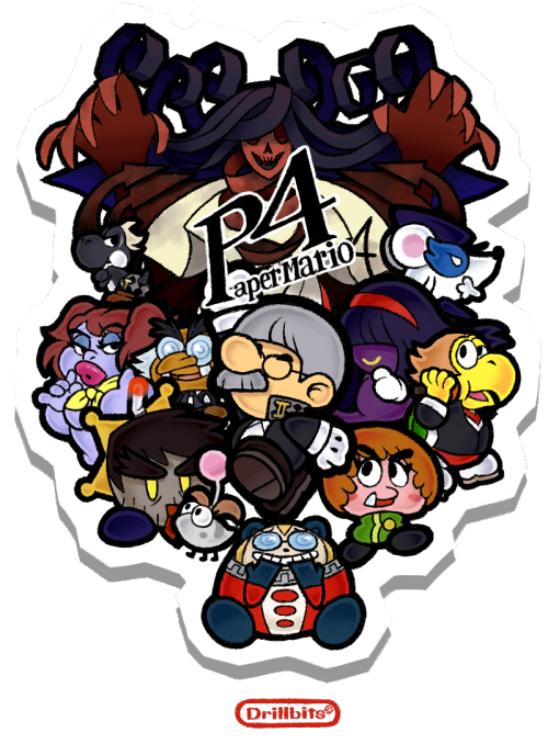 "WHY DO I HURT THE THINGS I LOVE  A Paper Mario/Persona 4 crossover video game cover thing? It started off as joke art, but I have this horrible habit of taking my own jokes too seriously and I eventually go wild with the details. (Especially when I have horrible desires to free-hand logos)  I'll leave all the funny crossover names to you, but ""FlurRise"" and ""Yosukoops"" are still my favorite."