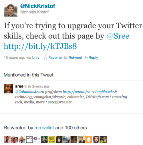 The incredibly generous @NickKristof!