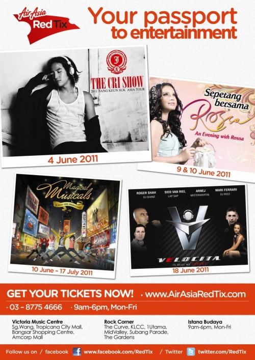 Don't miss out on these great events in June! Visit AirAsiaRedTix.com for more information