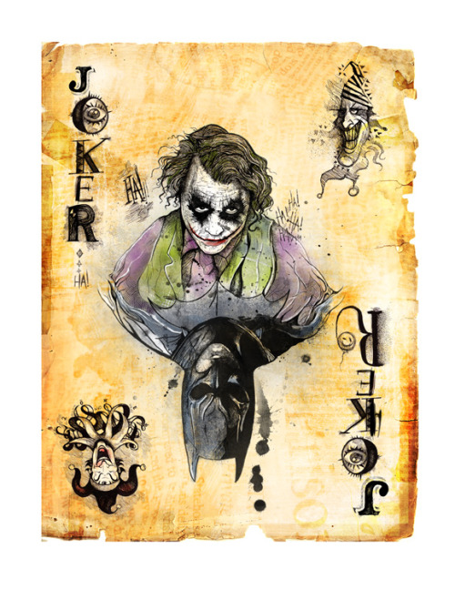 herochan:  Joker Card - by Dave Mott  Flickr || Blog (Via: TT&RPA)