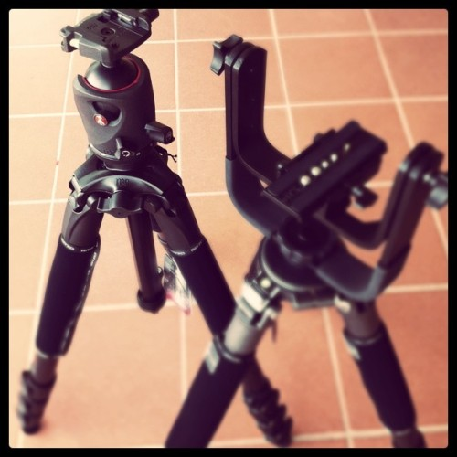 Nuovi giochi #manfrotto #gitzo (Taken with instagram)