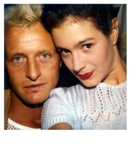 totalfilm:  Sean Young & Rutger Hauer, on set of Blade Runner (1981) Click through to see Sean Young's awesome personal collection of polaroid pictures from Blade Runner.