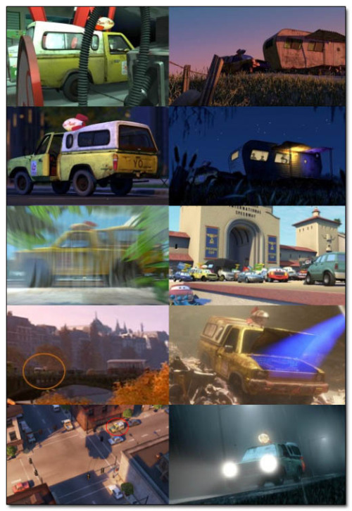 The Pizza Planet truck makes an appearance in ever Pixar movie.