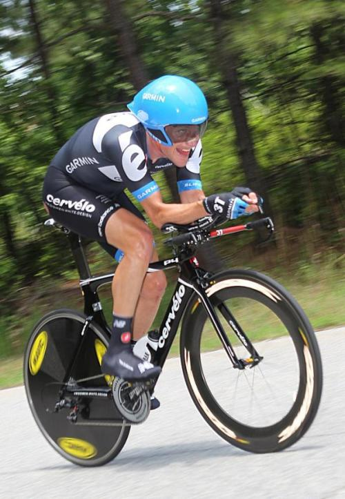 Dave Zabriskie (Garmin-Cervelo) en route to his fifth US time trial championship in six years. Photo: © Jon Devich/Cyclingnews.com/epicimages.us (via USA Cycling Professional Road Championships: Photos | Cyclingnews.com)