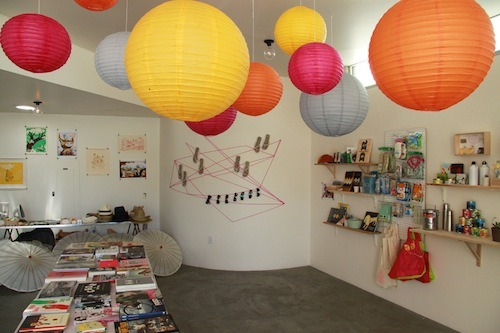 Bright color and good angles from Mt. Fuji's pop-up shop, Boom Shacka, in the Clubhouse for Desert Days weekend.