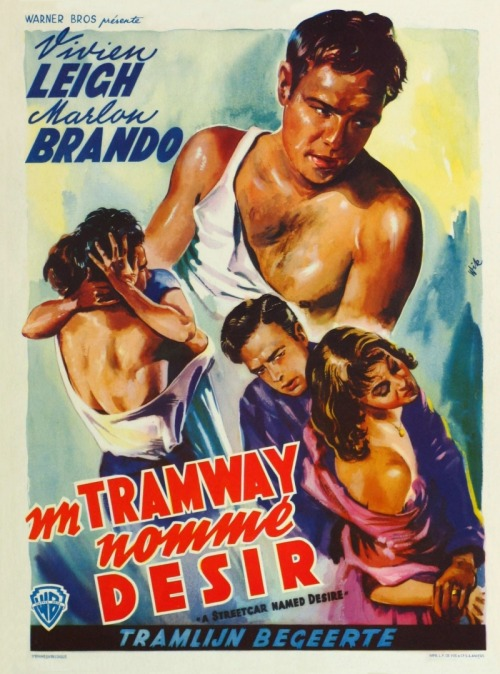A Streetcar Named Desire (1951) exclusive French poster