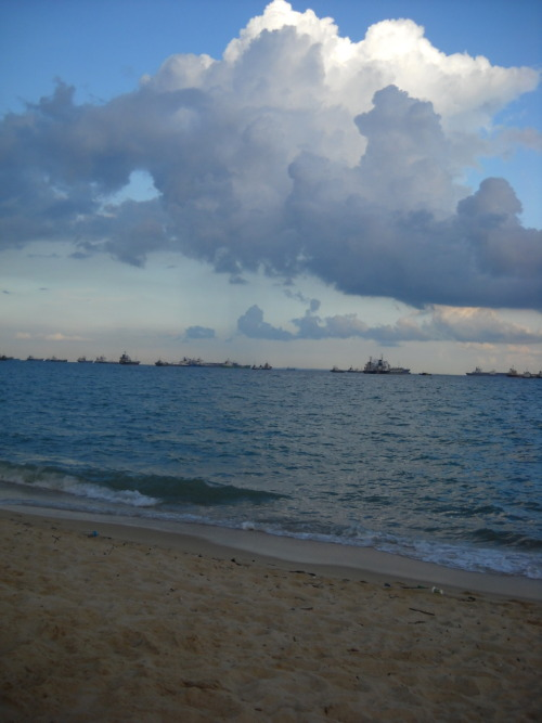 East Coast Park, Singapore One of the beautiful beaches in Singapore. Taken just right after the sun sets.  submitted by: http://travelwithwinn.tumblr.com, thanks! ♥