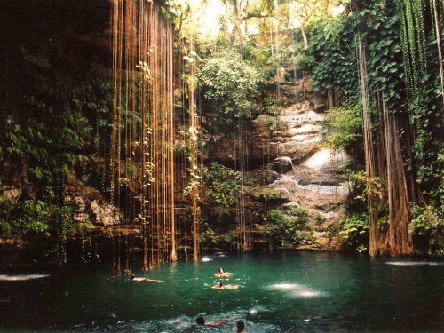 534. Go to the Ik-Kil Cenote Sinkhole in Mexico