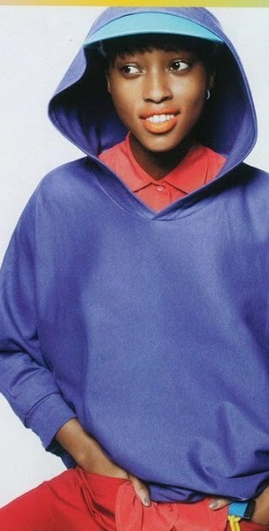 I love it when a kid look like a kid!! American Apparel hoodie, Equipment shirt! Model of the moment Nyasha Matonhodze for vogue teen!