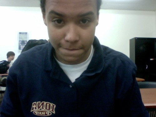 Chillin in school :) , need a haircut lol