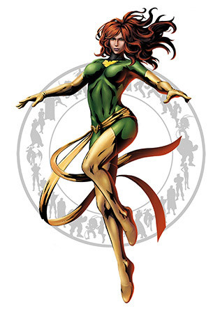 Phoenix Mutant Jean Grey became the receptacle for the powerful Phoenix Force, which grants Jean near god-like powers when it becomes fully active.  Dinaya ni ya upisyo ni Jean Grey ya. Ara na gani sa iya telekinesis, which by the way is what most people want as a superpower, may super saiyan mode pa siya ya. I seem to see Psylocke in her in the game (MVC3). Too bad wala siya.