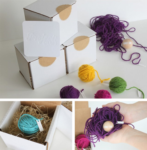 Yarn invitations by Danyelle of Dandee-Designs