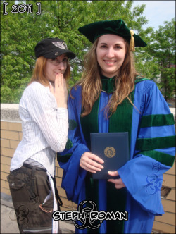 My sister, Crystal Roman, officially become a doctor on May 29th, 2011!  Woo!  Check it!  How awesome!  Also, this also includes me properly portraying the pose my seester should have replicated. Well, she did not. Congrats anyhow. :0  ————————————- Erie, Pennsylvania. L|E|C|O|M ————————————- The trip was awesome, because my fiancé, Jeff, collected my favorite 6 Pokemon (1st generation) and put them into SoulSilver for me! (^_^) HooYEAH.