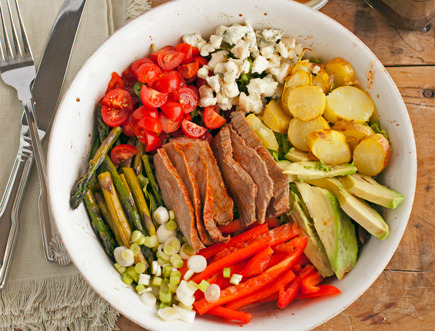 Flank Steak Salad with Bleu Cheese