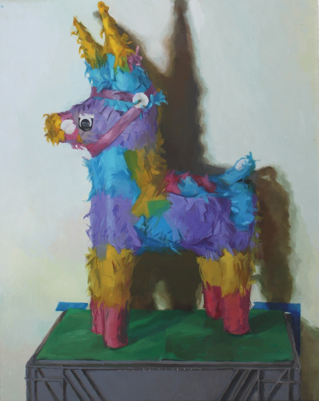 "la piñata, christian ramirez 2011 24""x30"" oil on linen  i've been working on a lot of experimentation since i graduated LCAD in '08. i've only recently started painting from direct observation again, and it's been more rewarding than ever. This is the first painting in a long time that i am very proud of.  Viewer Submission * We love the color and whimsy of this piece, not to mention that murky shadowing. *"