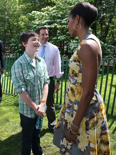 Greyson Chance + Michelle Obama = best tour diary ever. Check out the rest of Greyson's photos from his tour with Cody Simpson »