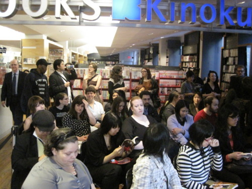 Fans attending the Natsume Ono event at Kinokuniya Bookstore, NYC.