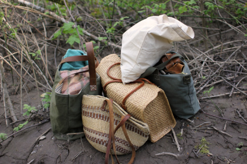 (via clever nettle – vintage & fashion in portland, oregon » Forest Bag Lady)