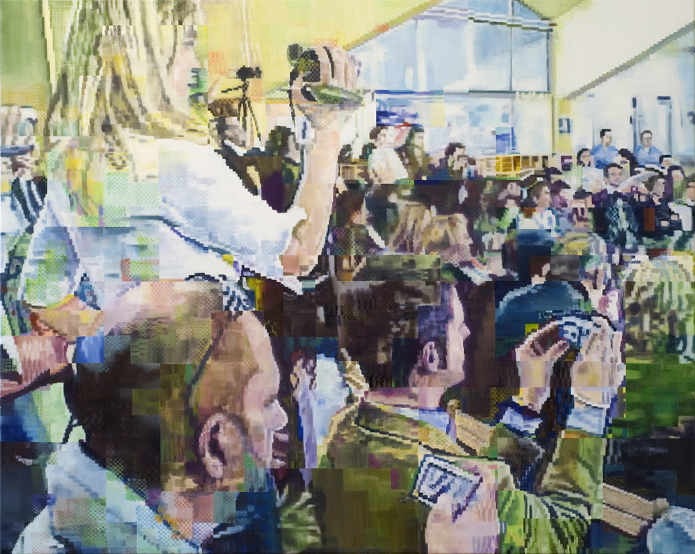 """Being Digital"" (2008) Oil on Canvas, 120 x 150 cm - Enda O'Donoghue"