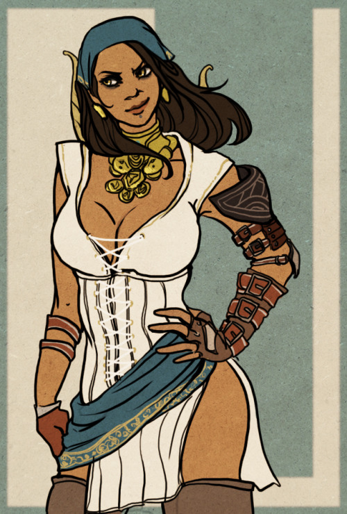 Some sexy Isabela. Done in all lines and colors since I was sick of lighting at the time.