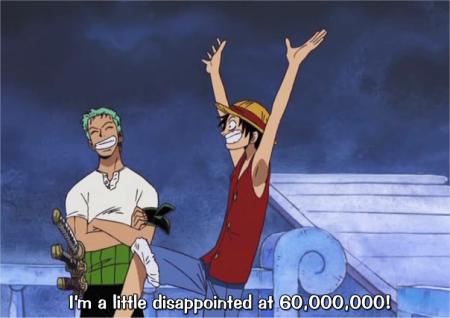 "darn it luffy"" >_> am still disappointed about my bounty… i wonder why its so low."