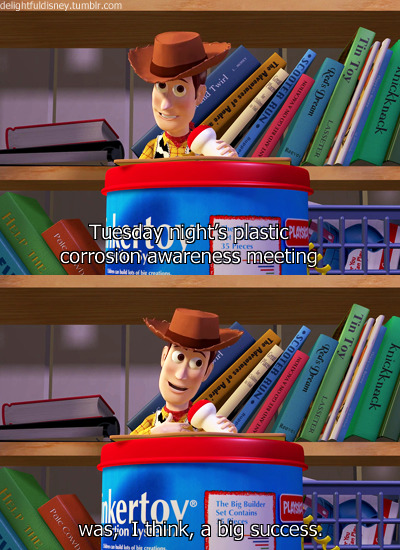 Oh Woody :) His entire spiel in this scene is pretty funny.