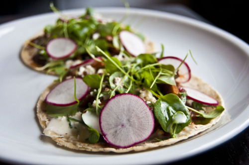 Mixed Mushroom Tacos - Empellon (West Village, NY) Located in the West Village, Alex Stupak's newly opened Empellon overcomes the boundaries and challenges of fine Mexican cuisine, and delivers amazing flavors and eclectic dishes that stand as a true representation of Mexican dining. Click here for Village Voice review!