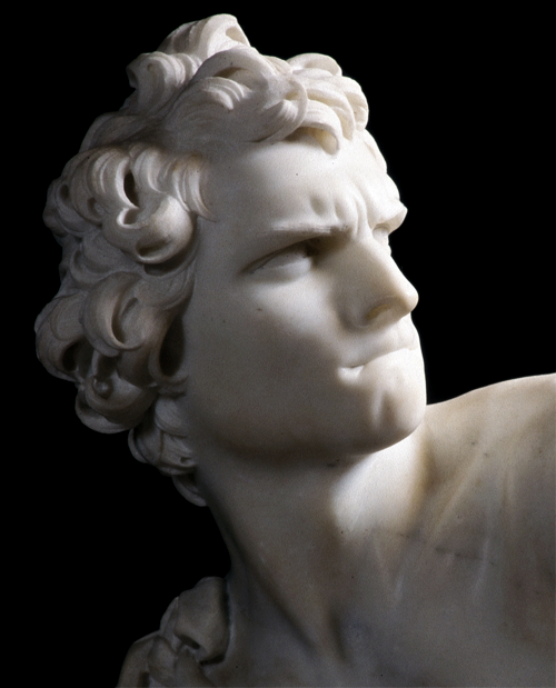 Gianlorenzo Bernini, David, 1623-1624. [Detail]