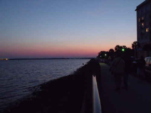 Sunset is Charleston, SC