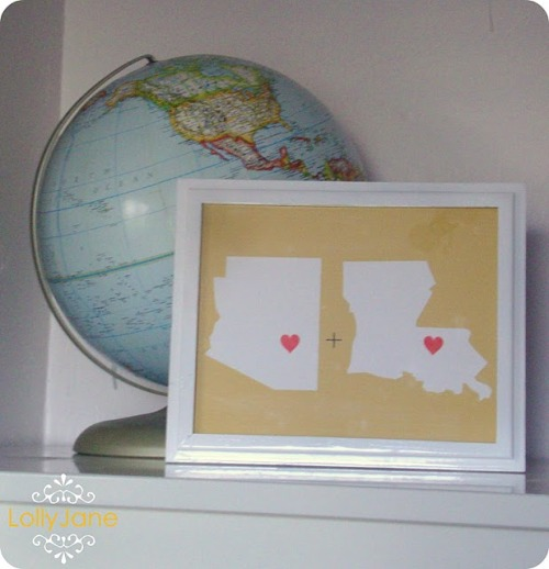 A cute 5 minute project for those of us in Long Distance Relationships (by lollyjaneboutique).