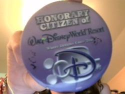 "ilovewaltdisneyworld:  Seriously one of my most  prized possessions  Earned in American Adventure Pavillion, me and my sister"" ohh yeah. <3  The black marks is where the kind cast member we talked with wrote the year, and a mickey mouse, but it faded."