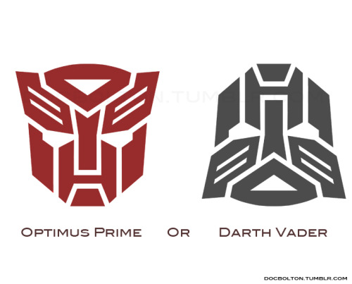 Lookalikes: Optimus Prime or Darth Vader   (Via:tiefighters)
