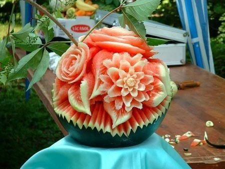 So I carved this watermelon today…