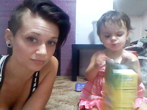 bored on a hot summer day with my bbgirl. shaved the sides and back of my head last night!