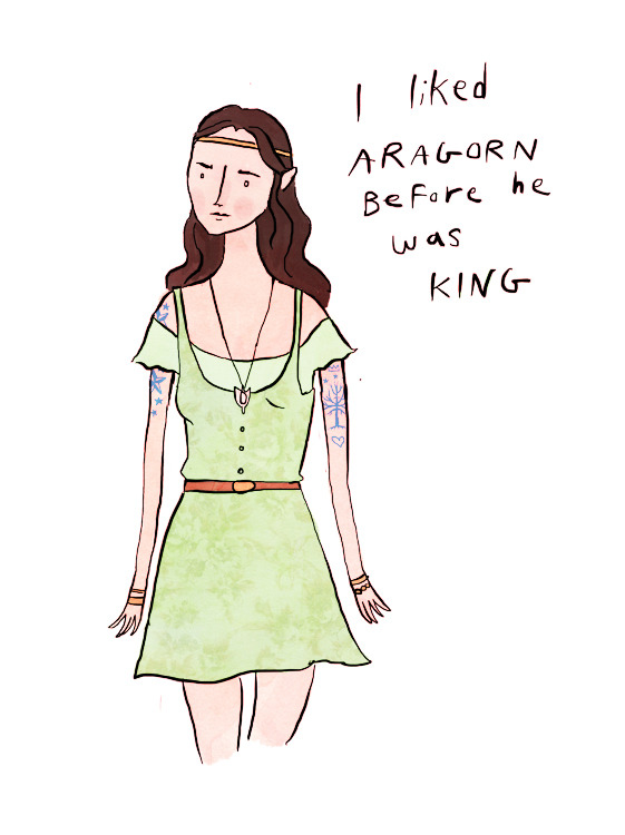 gingerhaze:  Arwen works at the Rivendell Fair-Trade Coffee Shop because of course she does. THANKS FOR YOUR SUGGESTIONS GUYS, COULDN'T HAVE DONE IT WITHOUT YOU!