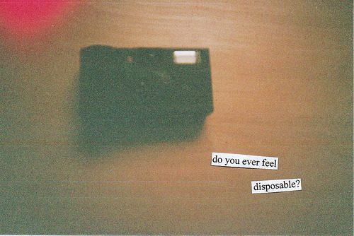heidifromnowhere:  disposable (by i enrapture)
