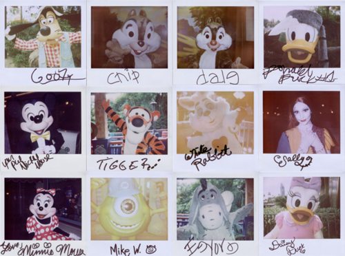 might be going to Disneyland in Oct. thinking i will bring my polaroid camera.