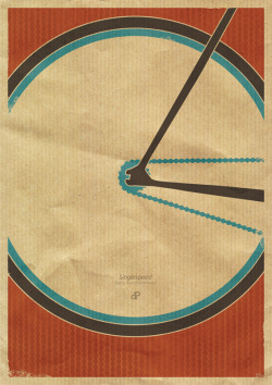 dp-illustrations:  The SingleSpeed Bike Print by Dirk Petzold Illustrations is now back in stock on dp-illustrations.com. More recommended prints. __posted by weandthecolor // facebook // twitter