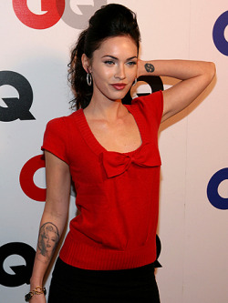 Megan Fox's Marilyn Monroe tattoo. ;-)