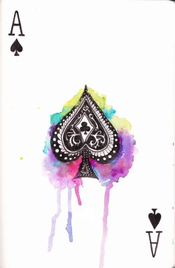 whatta colorful ace of spades