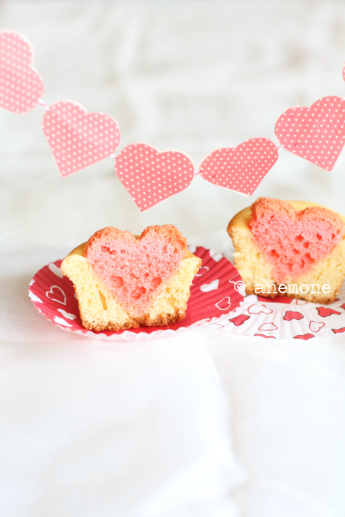 gastrogirl:  cupcakes with hearts.