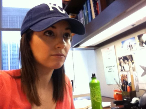 No, I am not sitting in my office with my door closed wearing my KC Royals hat while I watch them play the Angels on my second monitor. That would be totally absurd and unprofessional and I have a lot of work to do. This photo is just a coincidence. And what are you doing on Tumblr anyway? Get back to work!