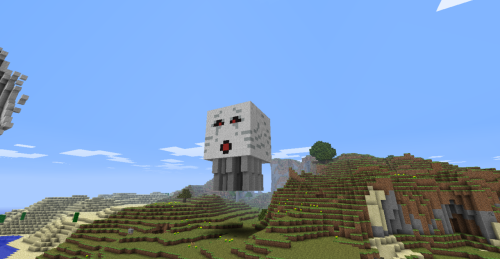 a 1:1 scale replica of a ghast every detail is exact took quite a while…btw im gonna start posting more minecraft again now that bukkit has come out with an update for 1.6.6 which makes it allot easier to get around the server and build