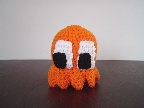 Clyde-Orange Ghost Plush by ShadowsInTheNyte  $10.00 @Etsy  (via:plushplushies)