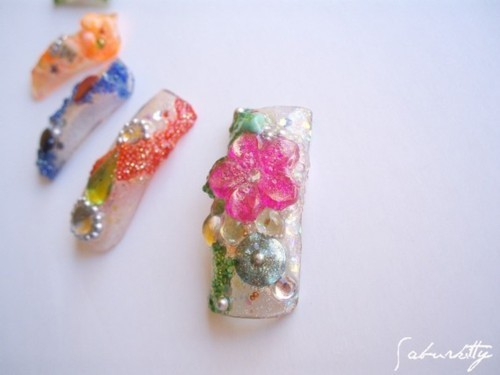 Kaleidoscope Rainbow Nail Art