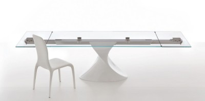 SHANGHAI Extendible Glass Table by Tonin CASA