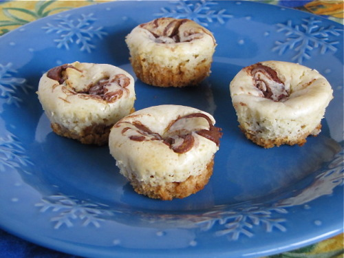aacupcakes:  Nutella cheesecake cupcakes - sounds delicious! Click here for the recipe.