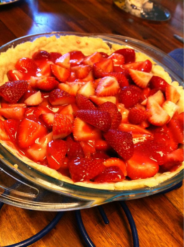 Strawberry pie. (: