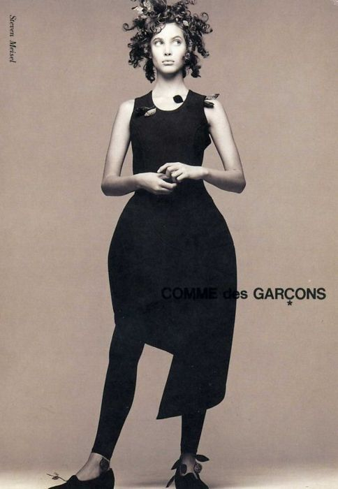 Christy Turlington by Steven Meisel for CDG