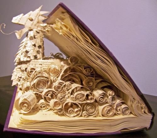 L.O.V.E.L.Y. kaylen-false:  I made the Dawn Treader out of pages from my Narnia books that were falling apart from being loved too much.